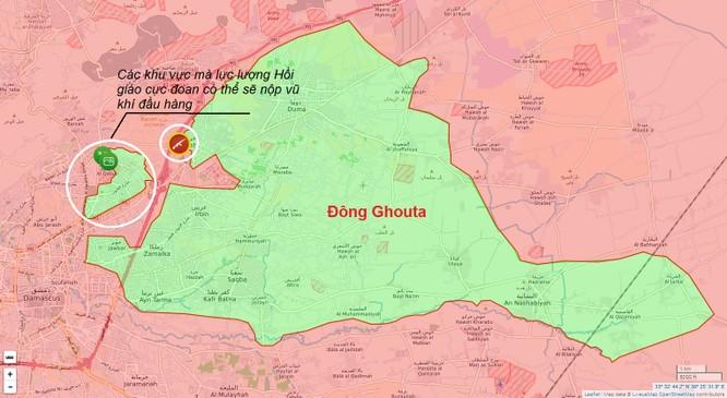 Chiến sự Syria: Phiến quân cố thủ hai quận ngoại ô Damascus khả năng sớm đầu hàng ảnh 1
