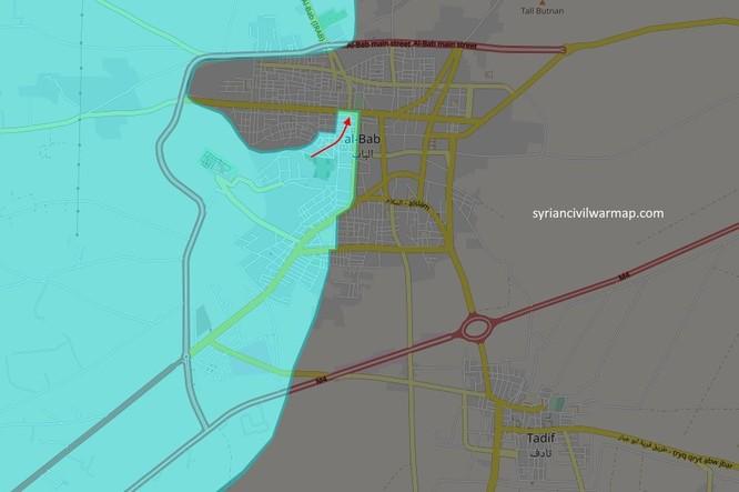 Chiến sự Al-Bab: Liên quân Thổ Nhĩ Kỳ tiến vào trung tâm sào huyệt IS (video) ảnh 2