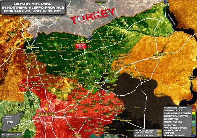 """""""Hổ Syria"""" tấn công thị trấn chiến lược, Thổ Nhĩ Kỳ sa lầy ở Al-Bab ảnh 1"""