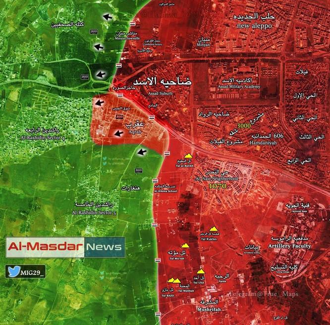 Vệ binh Syria tấn công giải phóng vùng ngoại ô Aleppo ảnh 1