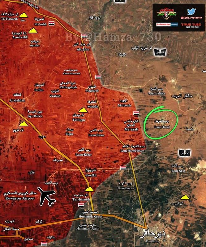 """""""Hổ Syria"""" đánh chiếm thêm 2 cứ địa, cắt tiếp tế thị trấn IS ở đông Aleppo ảnh 1"""