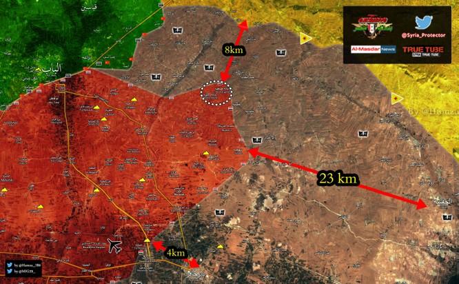 """Chiến sự Syria: Quân Thổ bất thần đánh quân Assad, """"Hổ Syria"""" chiếm thêm địa bàn IS ảnh 1"""