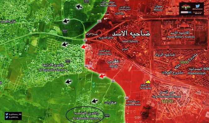Vệ binh Syria đè bẹp chiến tuyến phiến quân, tấn chiếm quận ngoại ô Aleppo ảnh 1