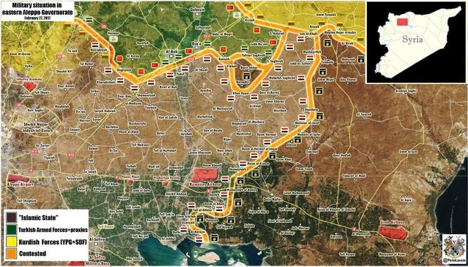 Quân đội Syria nổ súng giáng trả lực lượng Thổ Nhĩ Kỳ ở Al-Bab ảnh 1