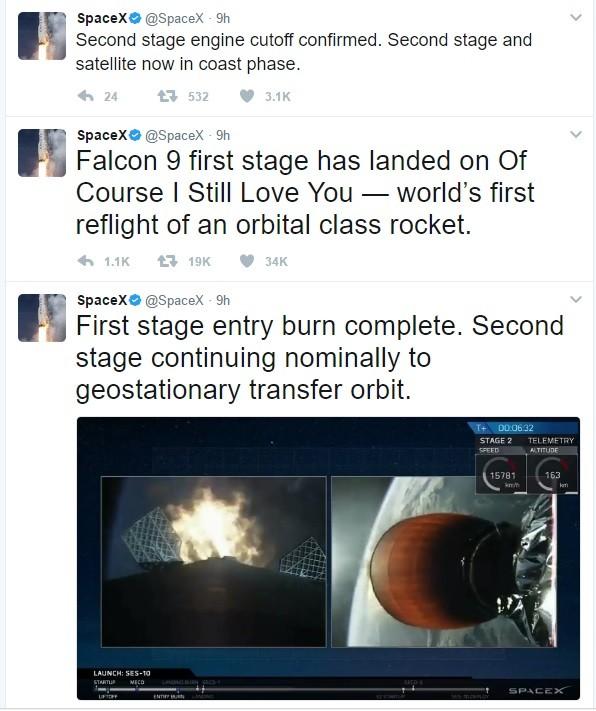 Công ty Space X hoàn thành thử nghiệm thành công tên lửa đẩy sử dụng nhiều lần ảnh 1