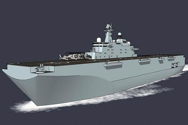Trung Quốc đóng tàu đổ bộ trực thăng khủng 40.000 tấn (video) ảnh 2