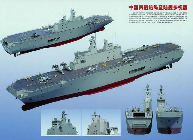 Trung Quốc đóng tàu đổ bộ trực thăng khủng 40.000 tấn (video) ảnh 4