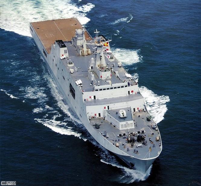 Trung Quốc đóng tàu đổ bộ trực thăng khủng 40.000 tấn (video) ảnh 8