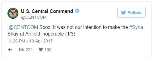 Bộ tư lệnh CENTCOM Mỹ nói gì về đòn tấn công tên lửa đánh Syria? ảnh 3