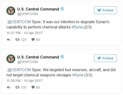 Bộ tư lệnh CENTCOM Mỹ nói gì về đòn tấn công tên lửa đánh Syria? ảnh 4