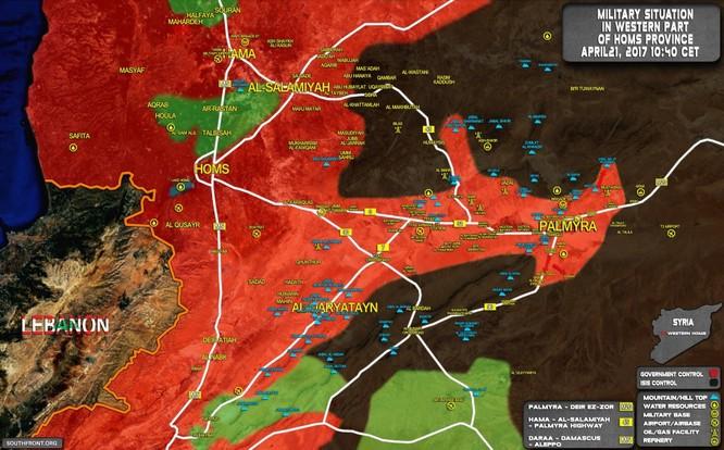 Quân đội Syria đánh dẹp IS tại ngoại vi Palmyra ảnh 1