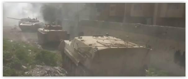Quân đội Syria tấn công lớn đánh phe thánh chiến cố thủ ngoại ô Damascus ảnh 1