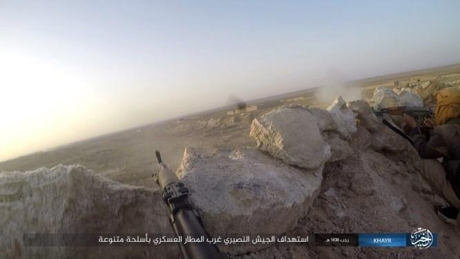 Chảo lửa Deir Ezzor: Quân đội Syria bày trận hỏa lực phá vây IS (video) ảnh 2
