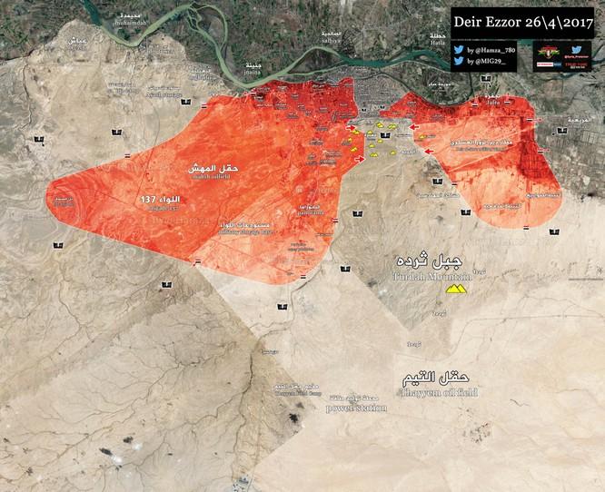 Chảo lửa Deir Ezzor: Quân đội Syria ác chiến phá vây, diệt hàng chục chiến binh IS (video) ảnh 1
