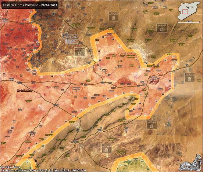Quân đội Syria đánh tan IS, chiếm nhiều địa bàn phiến quân ở Homs ảnh 1