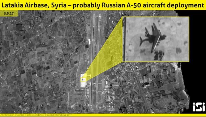 """Vệ tinh phát hiện Nga điều """"lính gác"""" A-50 trở lại Syria ảnh 1"""