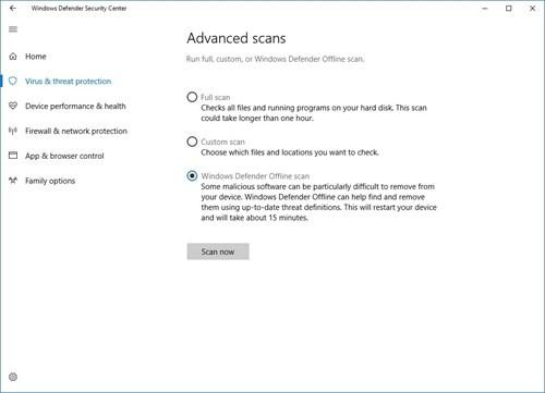 Diệt virus dễ dàng hơn với Windows Defender Offline ảnh 3