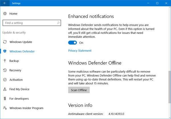 Diệt virus dễ dàng hơn với Windows Defender Offline ảnh 1