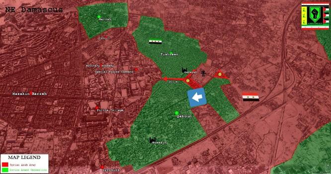 Quân đội Syria tái tấn công vào quận ngoại ô Damascus (video) ảnh 1