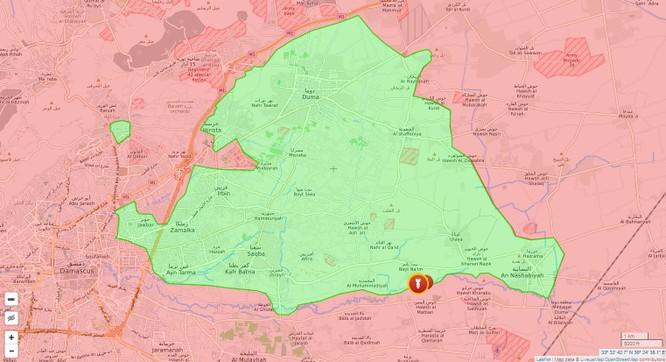 Chiến sự Syria: Quân chính phủ lại tấn công phiến quân cố thủ ngoại ô Damascus ảnh 1