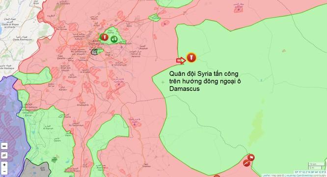 Quân đội Syria tấn công dữ dội phe thánh chiến ở đông Damascus ảnh 1