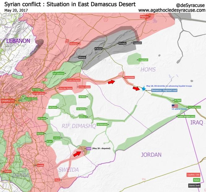 Quân đội Syria tiến về biên giới Iraq, không ngán đặc nhiệm Mỹ ảnh 1