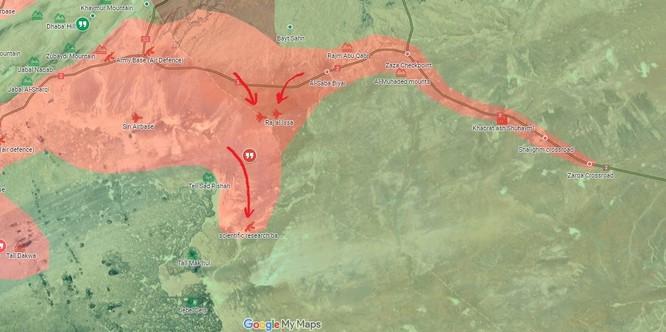 Quân Assad đồng loạt tấn công tam giác biên giới Iraq, Jordan, Syria ảnh 2