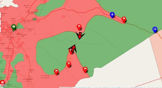 Quân Assad đồng loạt tấn công tam giác biên giới Iraq, Jordan, Syria ảnh 3