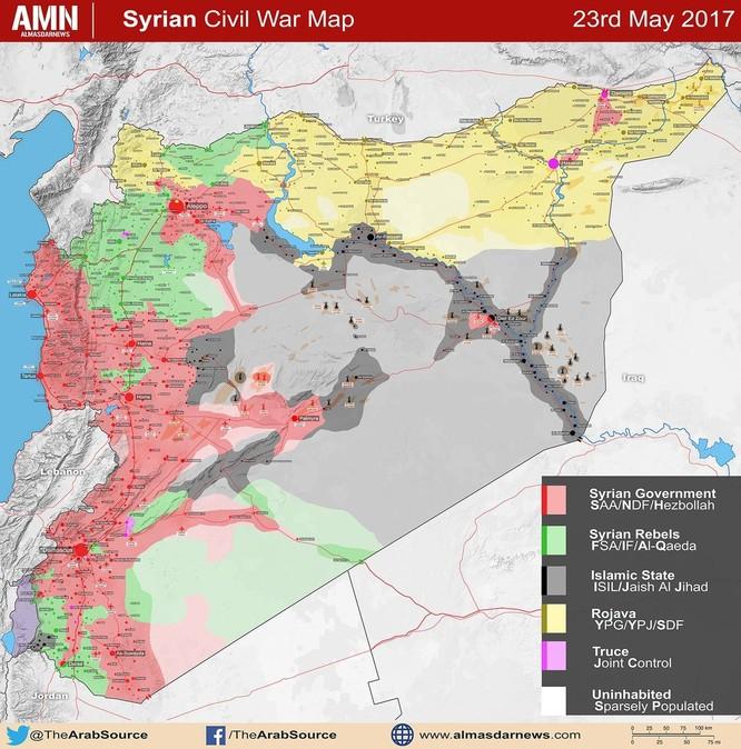 Quân đội Syria tấn công ác liệt khu vực biên giới giáp Jordan ảnh 1