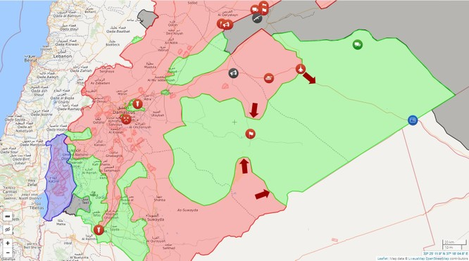 Chiến sự Syria: Quân Assad tấn công giải phóng sa mạc đông Sweida ảnh 1