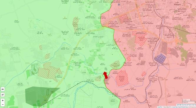 Quân đội Syria tấn công phe thánh chiến cố thủ tây bắc Aleppo ảnh 1