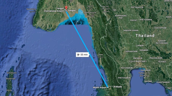 Máy bay chở 120 người rơi ở Myanmar ảnh 1