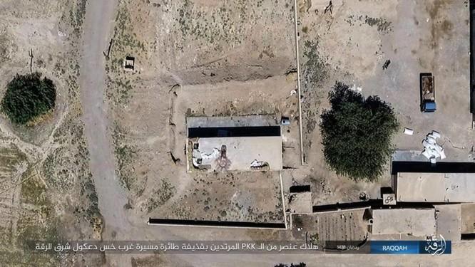 """Chiến sự Syria: SDF tấn chiếm 4 quận ngoại ô """"thủ đô"""" IS (video) ảnh 4"""