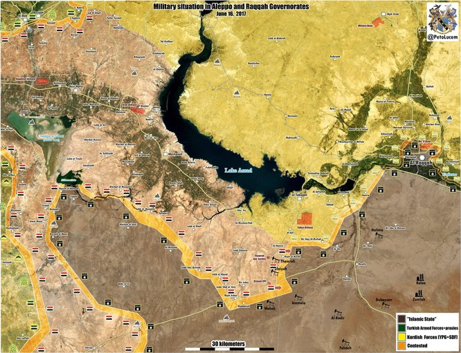 """Lực lượng """"Hổ Syria"""" giải phóng liên tiếp 3 cứ địa IS ở tỉnh Raqqa (video) ảnh 1"""
