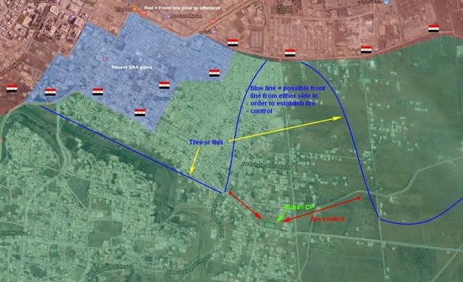 Quân đội Syria trút hỏa lực hủy diệt phiến quân cố thủ Daraa (video) ảnh 1