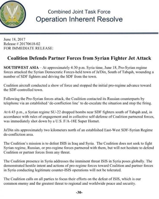 Mỹ bắn hạ chiến đấu cơ Syria, cuộc chiến xí phần bắt đầu khốc liệt ảnh 2