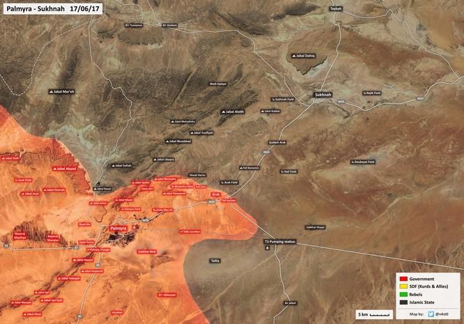 Nga không kích băm nát IS, quân đội Syria tiến đánh về giải vây Deir Ezzor ảnh 1