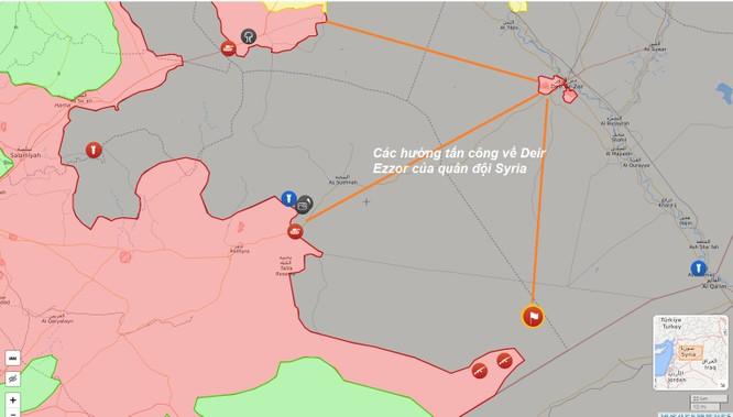 Chiến sự Deir Ezzor: Quân Syria đánh về giải cứu thành phố bị IS vây khốn ảnh 1