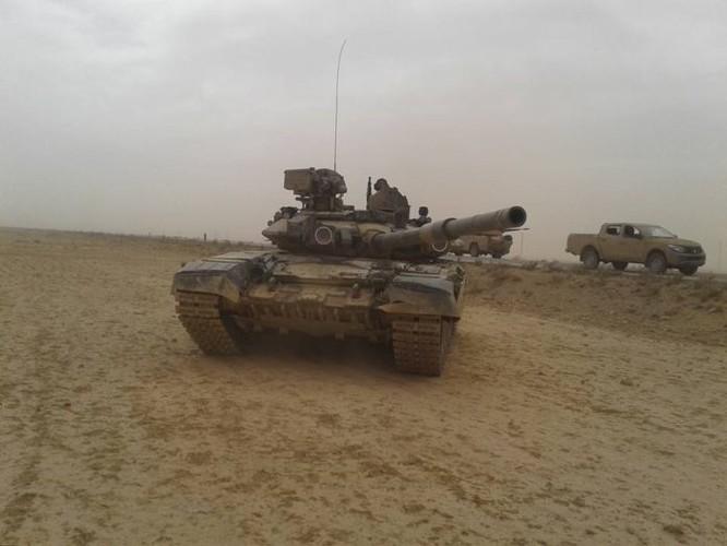 """T-90 Nga cùng """"Diều hâu sa mạc"""" Syria xung trận đánh IS (video) ảnh 2"""