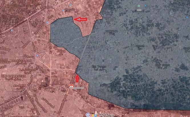 Phiến quân ngoại vi Damascus liều chết chống trả quân đội Syria ảnh 1