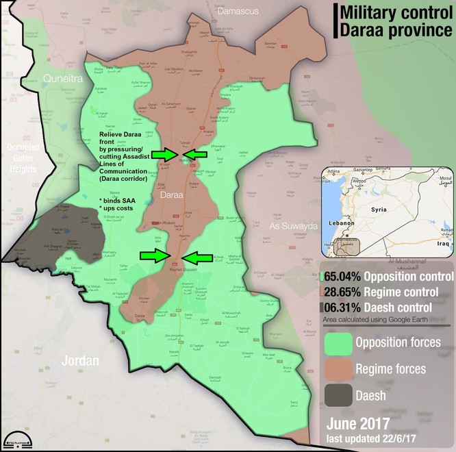 Quân đội Syria, Hezbollah dồn binh chuẩn bị đánh lớn tại Daraa (chùm video) ảnh 1