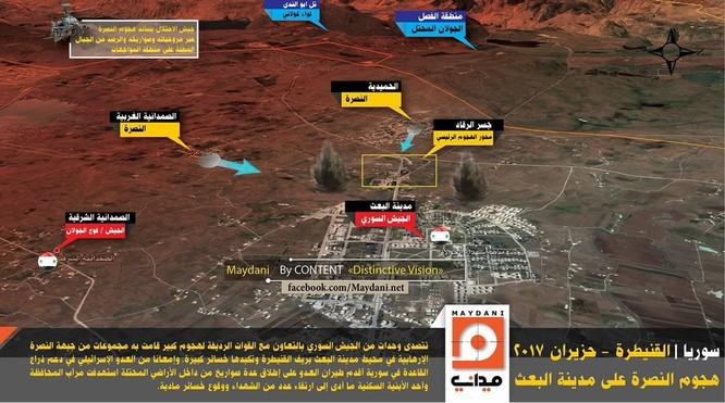 Israel không kích, phiến quân Hồi giáo liều tấn công quân đội Syria (video) ảnh 2