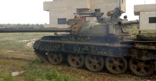 """""""Ông lão"""" T-55MV xông pha trên chiến trường Syria ảnh 7"""