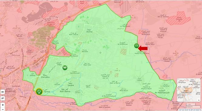 Quân đội Syria tấn công dữ dội phiến quân ngoại ô Damascus ảnh 1