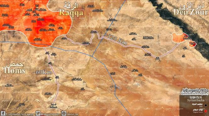 """""""Hổ Syria"""" đập tan IS, giải phóng thêm vành đai mỏ dầu Raqqa (video) ảnh 1"""