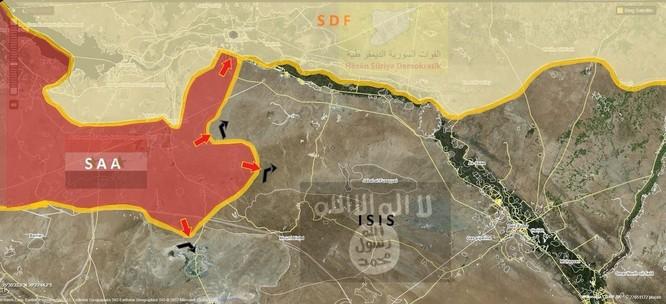 """Quân """"Hổ Syria"""" thần tốc tung đòn đánh chiếm 2 thị trấn gần sông Euphrates ảnh 1"""