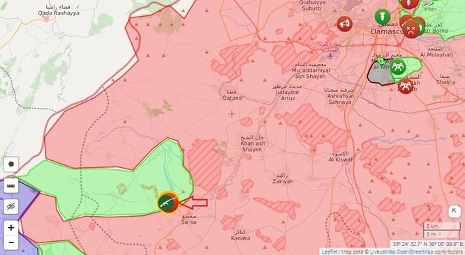 Chiến sự Syria: Quân Assad đập tan tập kích thánh chiến phía tây nam Damascus ảnh 1