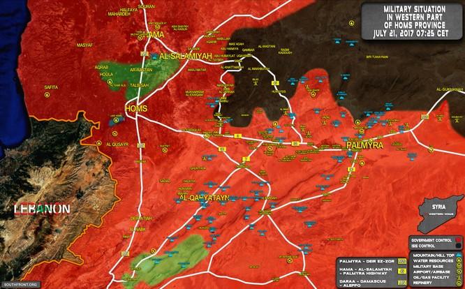 """Quân đội Syria """"ghìm đầu"""" cứ điểm IS, sắp tung đòn giải phóng sa mạc Palmyra ảnh 1"""