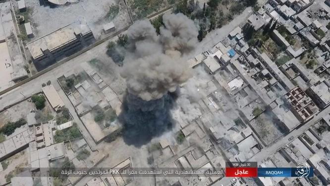 Hàng chục phiến quân IS nộp mạng trước SDF ở Raqqa, Syria ảnh 6