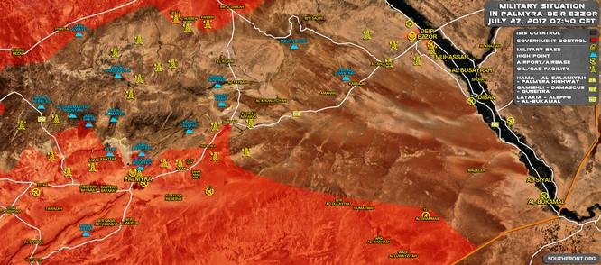 Không quân Nga xung trận, quân đội Syria đánh chiếm thị trấn IS (video) ảnh 1